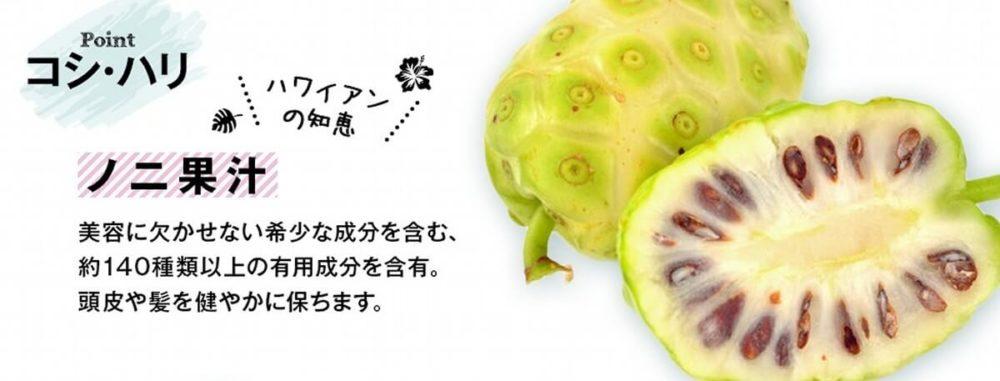 ハワイ由来ボタニカル成分ノニ果汁